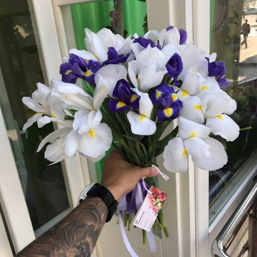 A bouquet of irises