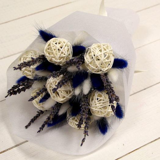 """Букет из сухоцветов """"Синий снег"""": букеты цветов на заказ Flowwow"""