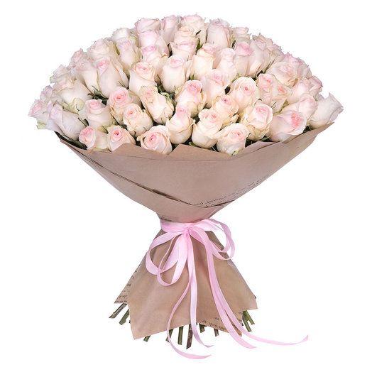 Элитные Нежные Розы: букеты цветов на заказ Flowwow