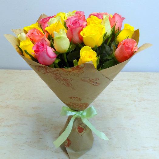 25 кенийский роз: букеты цветов на заказ Flowwow