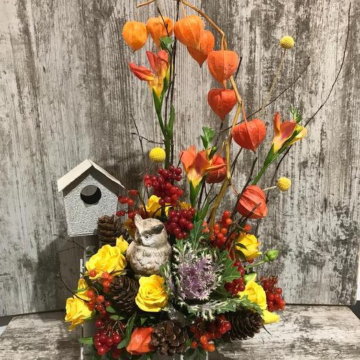 Дивная птица: букеты цветов на заказ Flowwow