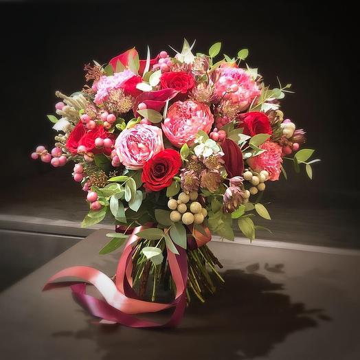 Малиновый сорбет: букеты цветов на заказ Flowwow