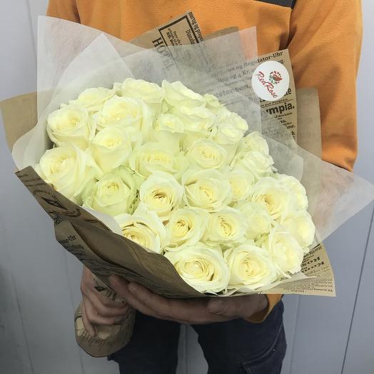 Букет из 29 роз Аваланж: букеты цветов на заказ Flowwow