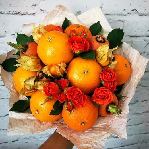 Фруктовый букет «осень»: букеты цветов на заказ Flowwow