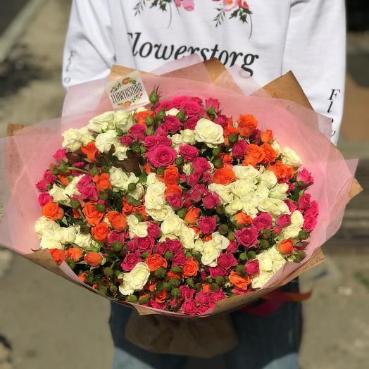 Букет кустовая роза 40 см 39 веточек. N294: букеты цветов на заказ Flowwow