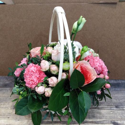 Мими корзиночка: букеты цветов на заказ Flowwow