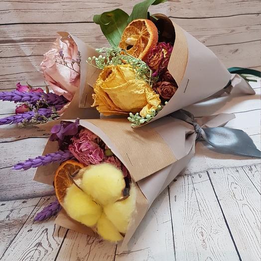 Сухоцветные минибукетики: букеты цветов на заказ Flowwow