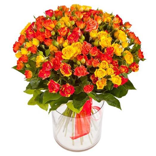 Микс кустовая роза: букеты цветов на заказ Flowwow