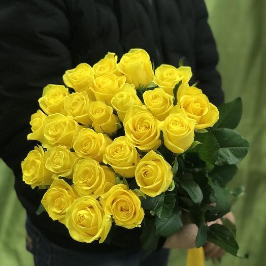 Букет 25 желтых роз: букеты цветов на заказ Flowwow