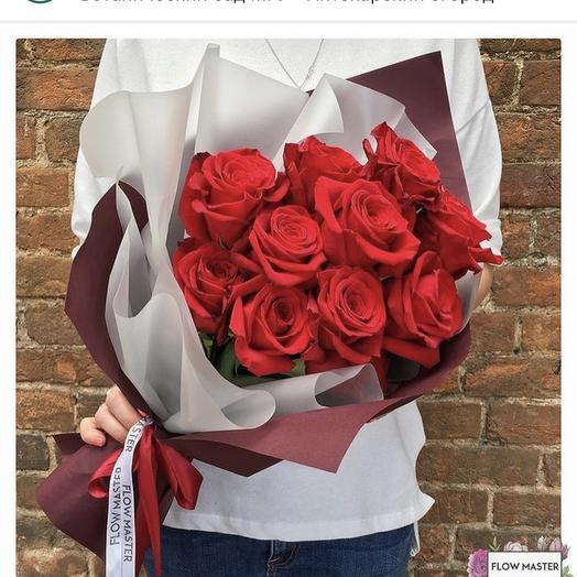 Букет из красных роз 11 штук: букеты цветов на заказ Flowwow
