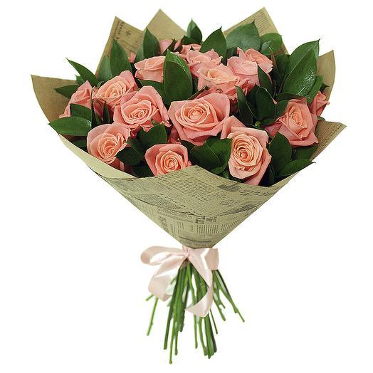 Букет персиковых роз: букеты цветов на заказ Flowwow