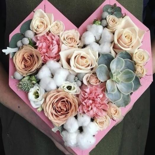 Сердце 2: букеты цветов на заказ Flowwow