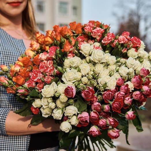 51 кустовая роза: букеты цветов на заказ Flowwow