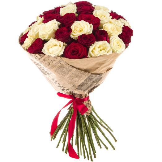 Букет 054 ( 25  роз): букеты цветов на заказ Flowwow
