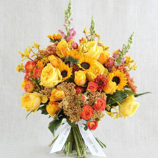 """Большой букет """"Для Льва"""": букеты цветов на заказ Flowwow"""
