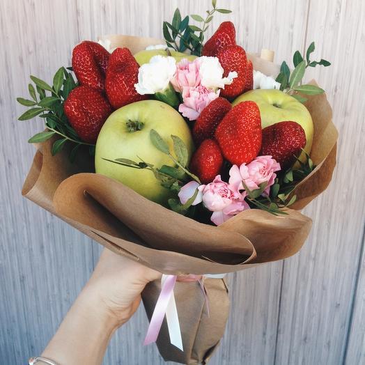 Фруктовый букет «школьная жизнь»: букеты цветов на заказ Flowwow