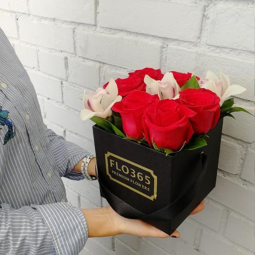 Розы   орхидеи: букеты цветов на заказ Flowwow