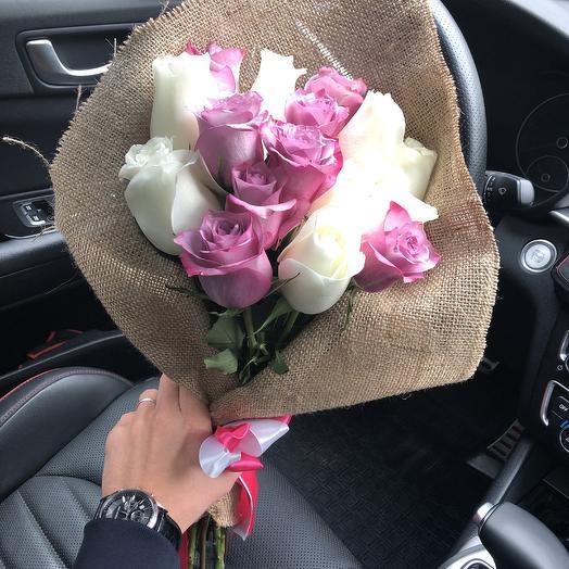 Букет из эквадорских роз. N622: букеты цветов на заказ Flowwow