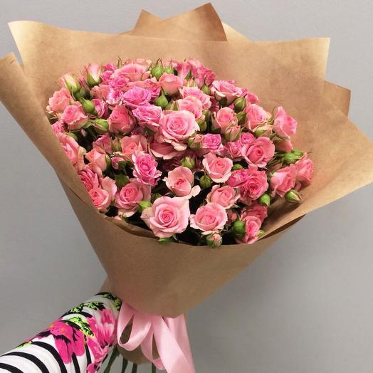 Букет из 15 кустовых роз: букеты цветов на заказ Flowwow