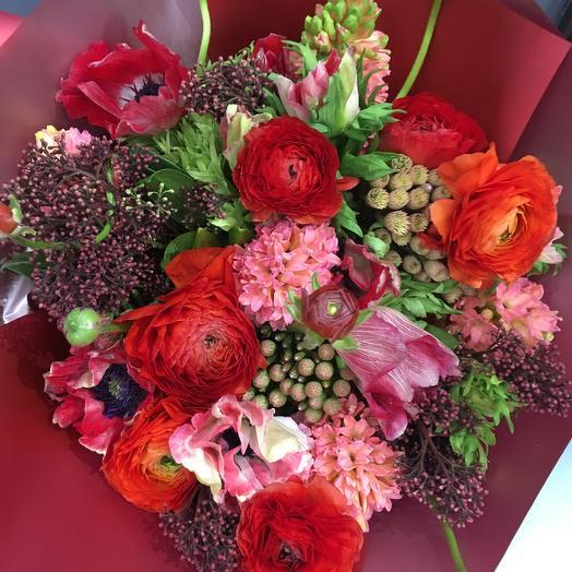 Красный: букеты цветов на заказ Flowwow