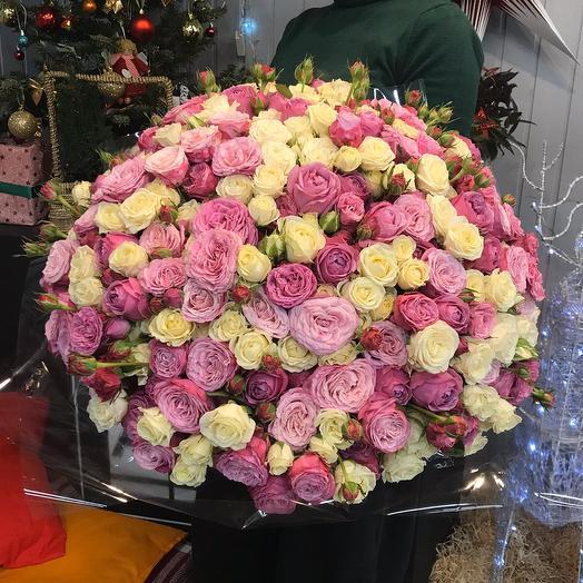 """Кустовые розы """"Облако Восторга"""": букеты цветов на заказ Flowwow"""