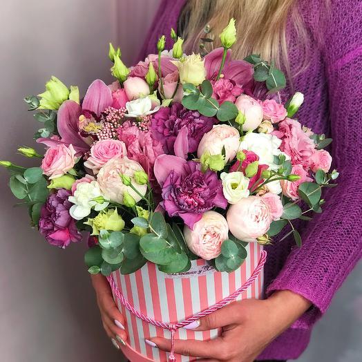 Шляпная коробочка «Пыльная Роза»