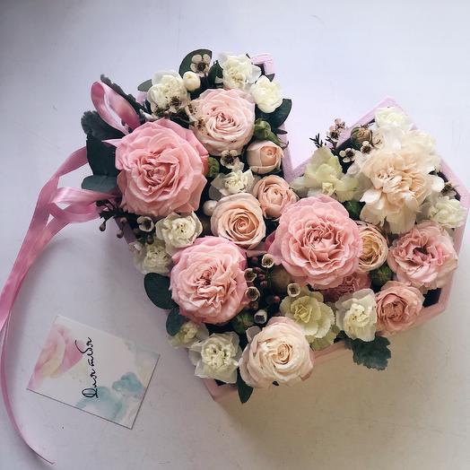 Самое нежное Сердечко: букеты цветов на заказ Flowwow