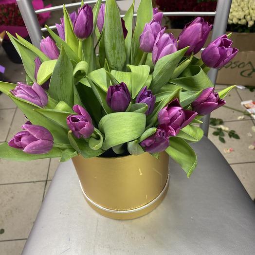 Коробочка Тюльпан: букеты цветов на заказ Flowwow