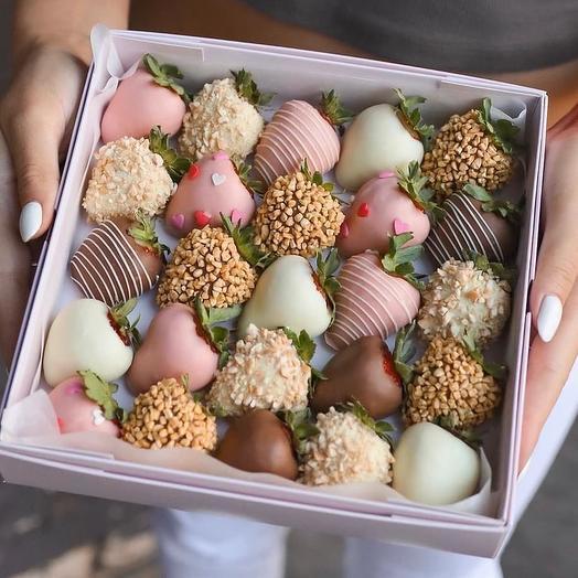 Набор Клубники в Шоколаде Нежность