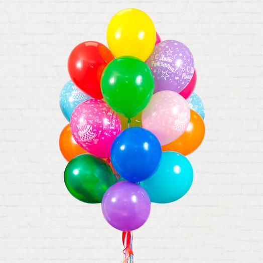 A set of helium balloons