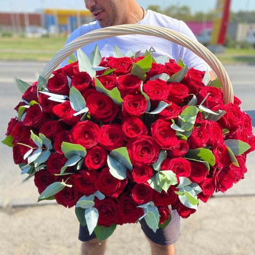 Корзина « 101 Роза»