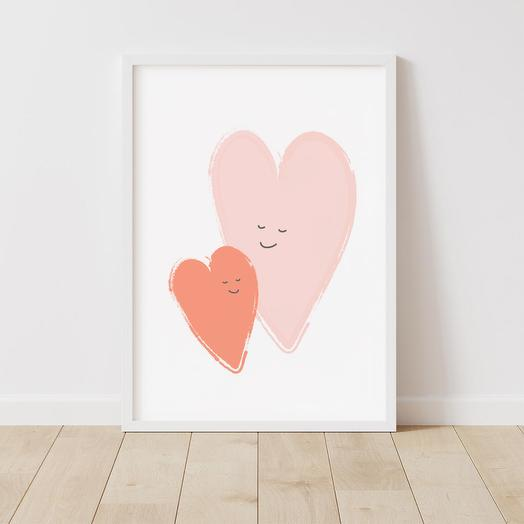 """Poster """"Love"""" 30x42 cm in a gift tube"""