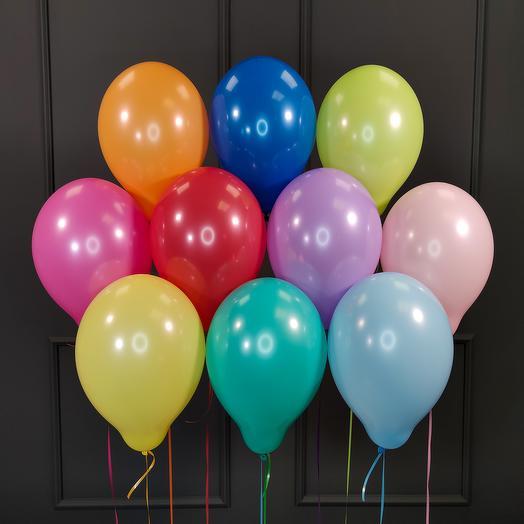 Воздушные разноцветные шарики пастель 25 шт