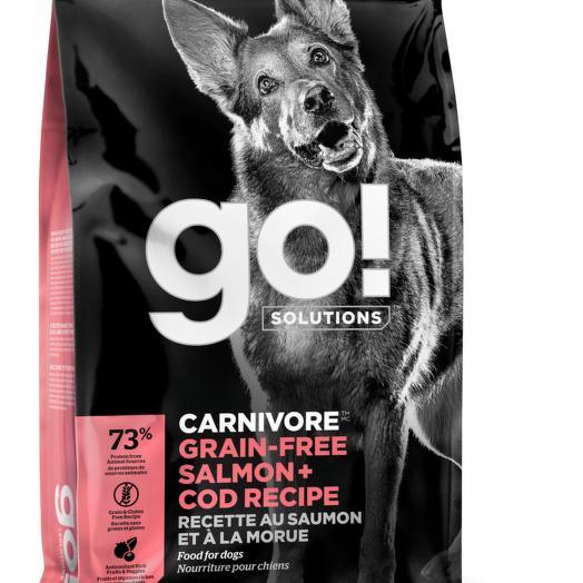 GO! беззерновой корм для собак всех возрастов c лососем и треской 5,44 кг