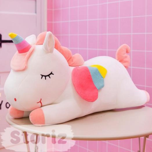 """Мягкая игрушка """"Спящий Единорожек"""" розовый, 40см"""