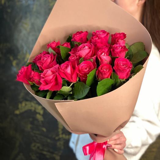 Букет из роз розовый