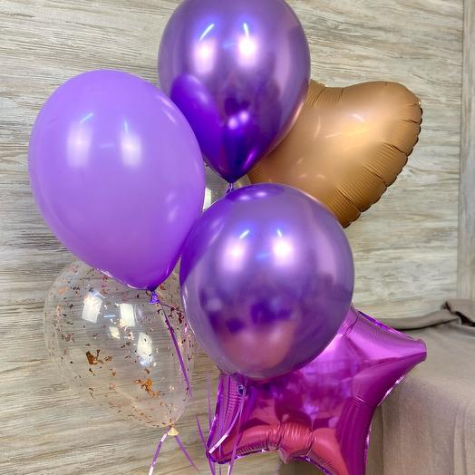 Связка шаров «фиолетовая»