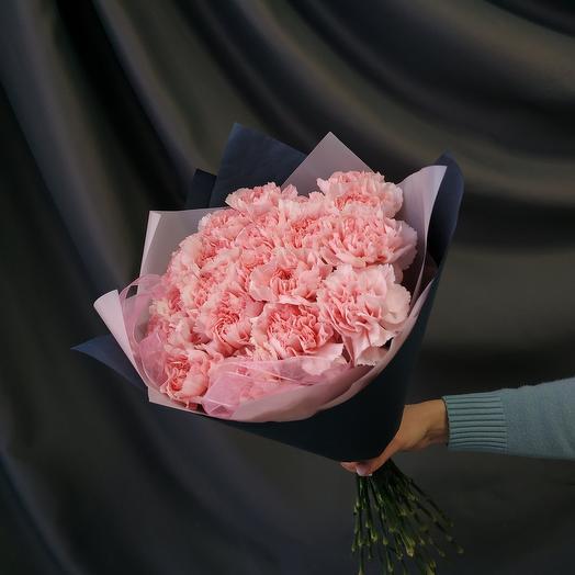 """Букет""""19 розовых гвоздик(диантусов)"""""""