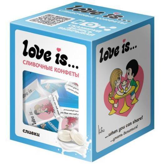 Конфеты Love is жевательные Сливочные со вкусом сливок 105 г