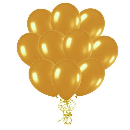 Воздушные шары с гелием «Золотой», металлик