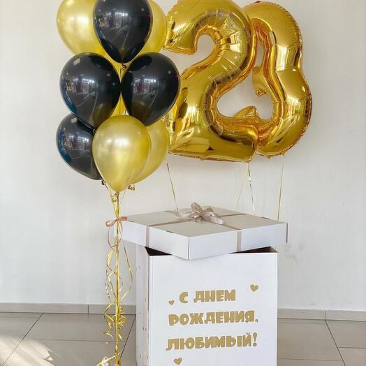 Коробка с 10 шарами и 2 цифрами
