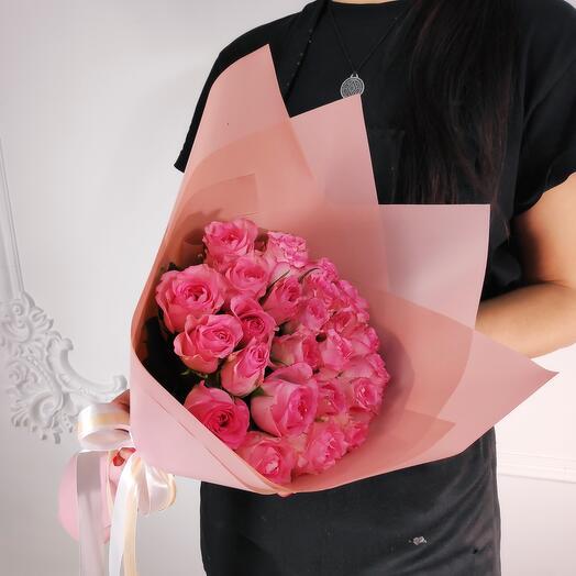 Мини-букет из 19 Розовых роз