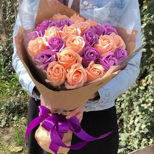 Букет мыльных роз 😍