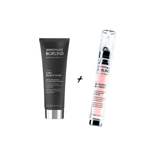 Экспресс-уход Black mask + Бьюти-шот Skin   Pore Balancer, Annemarie Borlind