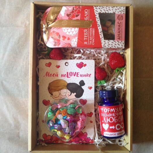 "Коробочка с конфетами "" Я тебя люблю"""