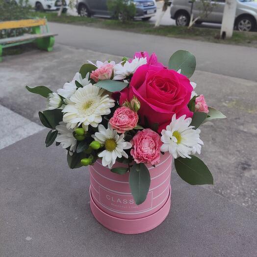 Нежная композиция с ароматной розой
