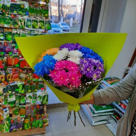 Букет из цветной хризантемы