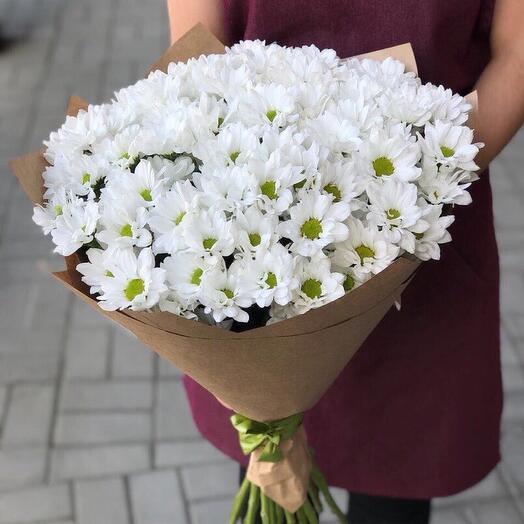 Букет их хризантемы