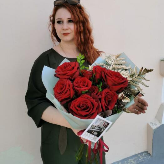 Букет Красных Роз Эксплорер и Ледерварена