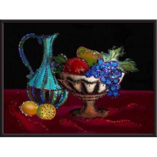 "Картина с кристаллами Swarovski ""Натюрморт с вазой"""